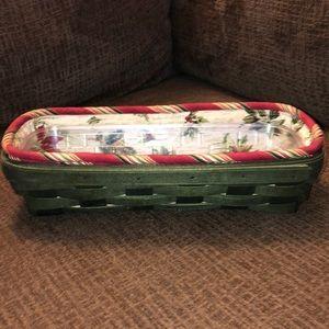 2006 Longaberger Holiday Ed. Cracker Basket Set
